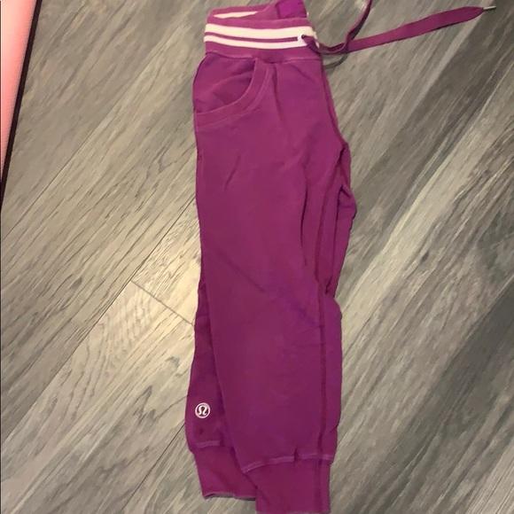 Lululemon Crop Pants Cotton